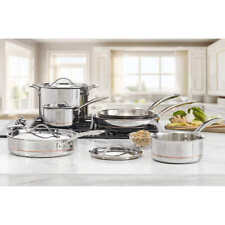 New listing Kirkland Signature 10-piece 5-Ply Clad Staainless Steel Cookware