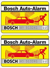 2x Bosch Auto Alarm Aufkleber – Alarmanlage Diebstahlschutz Scheibenaufkleber