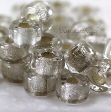 Pony, Roller Beads, 3.5mm Hole, Crystal w/Silver Lining, Czech, 20 Pcs, 0023