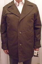 NWT LONDON FOG, Dark Olive, Warm Winter Trenchcoat, Paded Lining, Sz M (J-17)