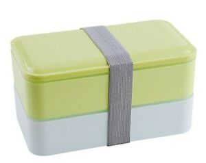 Double Layer Lunch Box Food Storage Container Microwave Oven Bento Box BPA Free