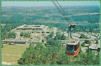 Vintage Postcard Georgia GA Stone Mountain Sky Lift Plantation Museum Aerial