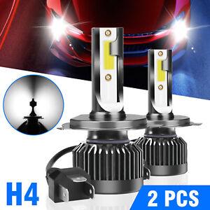 2X H4 9003 CREE LED Headlight Conversion Kit 100W 12000LM Hi-Lo Beam Bulbs 6000K