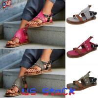 Summer Women Sandals Fashion Shoes Ladies Slip On Open Toe Vintage Flip Flops US