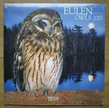 Eulen 2015 Wandkalender mit Ferienterminen - Owls - ovp - Korsch Verlag