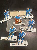 Vintage Coleco Hockey Players 1960 Metal Pittsburg Penguins 6 Players Goalie SH5