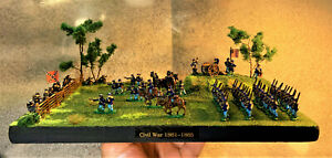 American Civil War Diorama 13.5 mm Union & Confederate Figures ( Hand Painted )