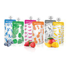Cherub Baby BPA Free Reusable Food Pouches 120 / 180mL 3 Colour Choices 10 PACK