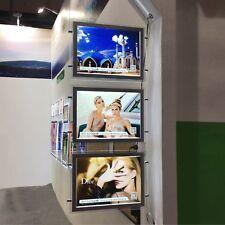 A3 III LED Illuminate Window Display Kits Double Side Panel Real Estate Agent