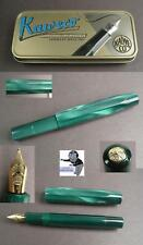 Kaweco Type Sports Fountain Color Metallic Turquoise Gold-Plated Feather #
