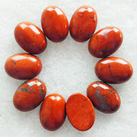 10Pcs Beautiful Red Jasper Oval 25x18x7mm CAB CABOCHON M8226