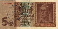 Ro.179c 5 Reichsmark 1942 belgischer Gemeindestempel (3)