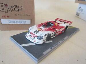 BIZARRE BZ80 1:43 LM Le Mans 1981 #20 De Cadenet Lola Ford Belga Martin Bros