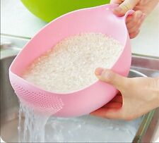 New listing Strainer Fruit Bowl Easy One Handed Strainer For Rice, Pasta, Etc kitchen gadget