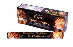 Darshan Myrrh Frankincense Incense Stick Fragrance AGARBATTI 6 Pack Of 20 Sticks