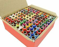 100 Pcs Assorted Color Polyester Thread Spool Spun Sewing Supplies Quilting