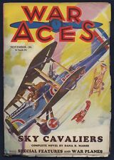 WAR ACES Air-War Pulp, RUDOLPH BELARSKI Cover, November 1930, FINE Condition