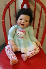 "Reborn doll Ladybug Black hair brown eyes 26"""