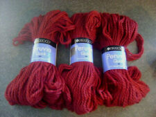 Lot 3 NEW BERROCO Peruvia Quick 100% Highland Wool 3.5oz/100g Burgundy Wine Yarn