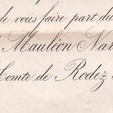 Jacqueline De Mauléon-Narbonne Toulouse 1876 Henry De Rodez-Bénavent Montpellier