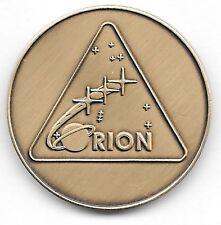 NASA ORION PROGRAM LOGO MINTED ANTIQUE BRONZE COIN