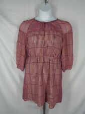 Madewell Peasant Retrogrid Silk Dress Size 10