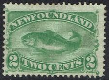 NEWFOUNDLAND 1880 COD FISH 2C GREEN