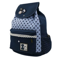 Cool Daily Backpack -Cute Cat Polkadots Snap Bag (Blue)