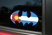 Colorado State Flag Batman Die-Cut Sticker READ DESCRIPTION