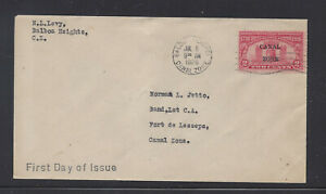 CANAL ZONE 96 2c LIBERTY BELL FIRST DAY COVER BALBOA HEIGHTS CANCELLATION