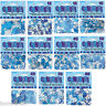 Blue Birthday Confetti Party Sprinkles Foil Glitz Metallic 13th-100th Tableware