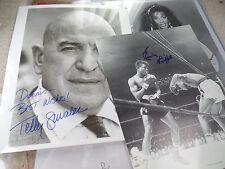 d1994 Telly Savalas AUTO Theo Kojak signed 8x10 autograph WHO LOVES YOU YA?