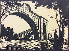 Rare Bois gravé de René DUPLAN (1888-1943)