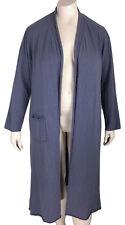 "$128 L Fenini Cotton Slub Chalet Maxi Cardigan LARGE Oversized Cut 50"" + Bust"