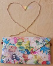 Rainbow/floral across body or shoulder bag and watch