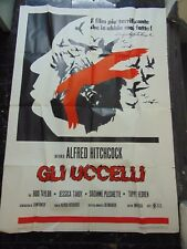 "Alfred Hitchcock The Birds 28x55"" Italian 1970's Reissue Poster M7829"