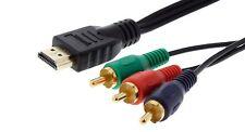2m HDMI auf 3fach Cinch RGB YUV Kabel vergoldet   #c635