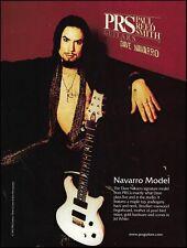 Jane's Addiction Dave Navarro Signature Model PRS guitar ad 8 x 11 advertisement