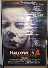 Vintage 1989 CBS/Fox Halloween 4 Return of Michael Myers Movie Poster 25.5x38""