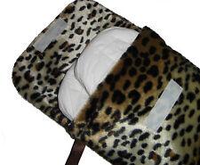 Piel de leopardo bebé Pañales Pañal & Toallitas Viaje Bolso cambiante hecho a mano Caso-Nuevo