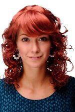 Wig NEW Romantic Red Dark Copper Red Curly Points mc008-135
