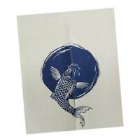 Home Kitchen Koi Fish Japanese Noren Doorway Curtain Tapestry Room Divider
