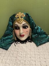 Unique Creations Art Deco Lady Face Mask Ready Hang Wall Décor Signed/Numbered