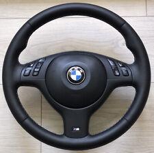 M3 M5 Steering Wheel BMW E46 E39 X5 E53 New Leather Black M STITCH M Sport