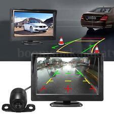 170° Car Rear View Monitor Kit 5'' LCD Screen Reverse Backup Camera Night Vision