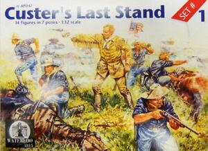 Waterloo 1815 1/32 Model Kit AP047 CUSTERS LAST STAND set 1 8 poses - 16 figures