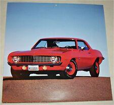 1969 Chevrolet Camaro Hugger ht car print ( orange)