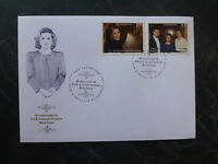 2016 LUXEMBOURG 60th BIRTHDAY OF MARIA TERESA 2 STAMPS FDC FIRST DAY COVER
