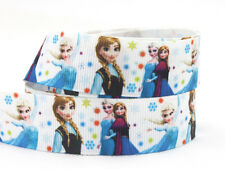 """Grosgrain Ribbon 7/8"""" Frozen Girls Colorful Dots Fz27 Printed for Hairbows"""