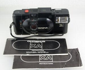 Olympus XA Classic 35mm Rangefinder, A11 Flash, New Seals, Working, SEE DESC